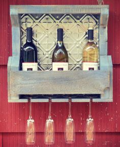 Home & Decor Washi, Pallet Projects, Projects To Try, Wood Crafts, Diy And Crafts, Diy Bar, Wood Signs, Liquor Cabinet, Tin