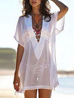Swimwear Dress Cover Up Sexy Swimsuits 56 Ideas Boho Fashion, Fashion Dresses, Womens Fashion, Fashion 2016, Beach Fashion, 80s Fashion, Lingerie Fine, Moda Chic, Beach Attire