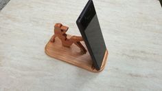 Wooden phone holder Lady on the beach / Wooden от WoodDecorTM