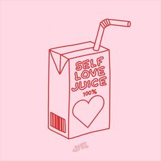 Cute juice box line drawing. Self love juice! Self love affirmations aesthetic art print. Add some good vibes and positivity to your room with this self love affirmations art print! Self love, motivational quote room decor. #selflove #graphic Collage Mural, Photo Wall Collage, Picture Wall, Room Posters, Poster Wall, Poster Prints, Art Print, Graphic Prints, Graphic Art