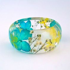 Beautiful Botanical Resin Jewelry by Sumner Smith.