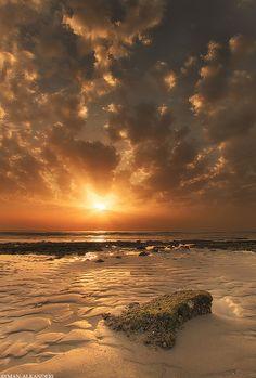 Awesome Sunset - Kuwait Beach