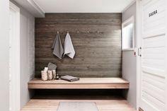 Dressing room in a sauna department