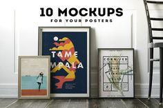 Poster Frame Mockup Set by Best Pixels on @creativemarket
