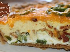 Bacon Jalapeno Popper Quiche Recipe