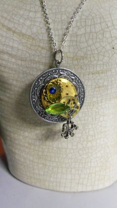 Bejeweled Watch Pendant by Spiritracer on Etsy