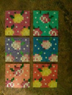 Coasters perler beads by Sandy Nelms