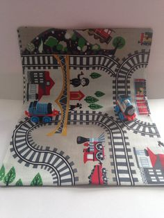 Beige Travel train activity play mat