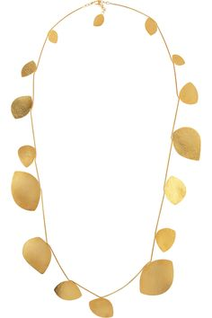 Hervé Van der Straeten|Hammered gold-plated teardrop necklace|NET-A-PORTER.COM