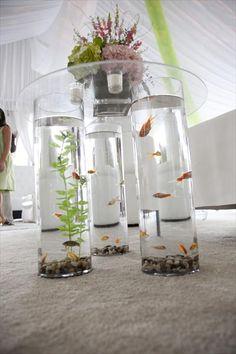 Goldfish tables- aquarium style