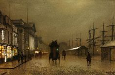 John Atkinson Grimshaw: The Dockside Liverpool at Night, 1886
