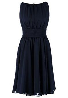Cocktailkleid / festliches Kleid - schwarz-blau