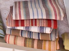 A and G Merch- Dash and Albert throw blankets Home Furnishing Stores, Home Furnishings, Dash And Albert, Fabric Yarn, Sweet Home, Stripes, House Design, Linens, Blankets