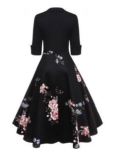 Floral Patchwork Dress – Retro Stage - Chic Vintage Dresses and Accessories Women's Dresses, Cheap Dresses, Pretty Dresses, Plus Size Dresses, Dresses Online, Vintage Dresses, Fashion Dresses, 1950s Dresses, Casual Dresses