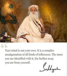 sadhguru quotes on mind - Google Search