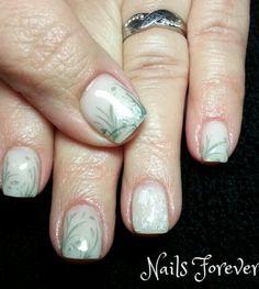 Gel Nails 2014 - Spring Snow Drops