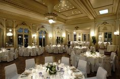 Set in 14 acres of heritage-listed gardens, this grand mansion with its chandeliered ballroom makes for a magical wedding. Ballroom Wedding, Wedding Venues, Wedding Ideas, Wedding Stuff, Wedding Flowers, Wedding Inspiration, Wedding Catering Prices, Decorative Fountains, Cheese Display