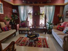 Home interior Design Videos Living Room Hanging Plants Link – Right here are the best pins around Coastal Home interior! India Home Decor, Ethnic Home Decor, Indian Room Decor, Moroccan Decor, Indian Living Rooms, Living Room Red, Indian Home Interior, Home Interior Design, Interior Modern