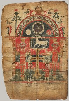 Double-Sided Gospel Leaf, first half of 14th century  Ethiopia; Tigray region  Tempera on parchment, MET New York, 2.
