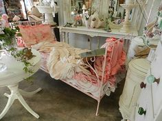 FRENCH PINK DAY BED,,VIGNETTES IN SAN DIEGO