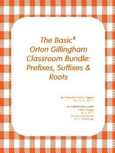 GREAT NEWS!  The 2nd  Orton Gillingham Basic Bundle for Classroom is  Ready for Use in your Classroom!      This bundle, styled in a workbook PDF format, provides an organized and structured approach to prefixes, suffixes and basic roots.
