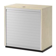 IKEA - GALANT, Roll-front cabinet, birch veneer, , 10-year Limited Warranty. Read about the terms in the Limited Warranty brochure.You choose your own code for the combination lock and safely store your papers and office supplies.You can adjust your storage according to your needs, as the shelves are adjustable.The storage unit stands evenly on uneven floors with the adjustable feet.