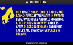 Ikea names sofas, coffee tables and bookshelves after places in Sweden