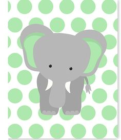 Elephant Nursery Art, Gender Neutral Baby Decor, Children's Decor, Toddler Room, Jungle Nursery, Zoo Nursery, Elephant Canvas Art, Safari by SweetPeaNurseryArt on Etsy