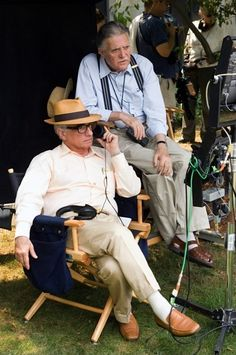 "Martin Scorsese on the set of ""The departed"""