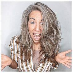 Grey Brown Hair, Grey Blonde Hair, Long Gray Hair, Dyed Gray Hair, Grey Hair Transformation, Grey Hair Care, Mushroom Hair, Gray Hair Highlights, Grey Hair Inspiration