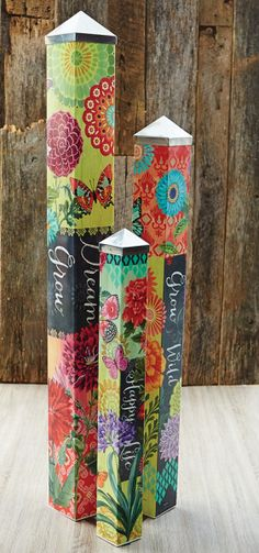 Art Pole Garden Collection - We gave artist Stephanie Burgess of Painted Peace three blank poles to tell a story. Description from pinterest.com. I searched for this on bing.com/images