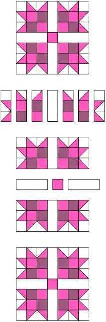 Quilt Ladies 52 Weeks of Quilt Pattern Blocks, this is Pink Magnolia Quilt Block Tutorial Colchas Quilt, Patchwork Quilt, Patchwork Patterns, Patch Quilt, Quilt Block Patterns, Pattern Blocks, Quilt Blocks, Quilting Tutorials, Quilting Projects