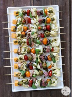 Antipasto Kabobs - great idea for the next wine and cheese party!