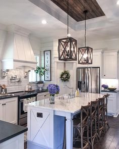 Like it except the cabinets need to go to the ceiling Island Kitchen, Kitchen Island