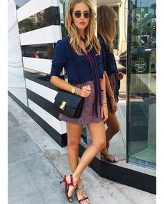 Pin for Later: These Fall Outfit Formulas Aren't Just Stylish — They're Easy, Too A Breezy Shirt, Printed Skirt, Skinny Scarf, and Heels The scarf is the little something that'll take this look from classic to trendy.