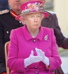 Una cuenta de Instagram hace que Trump se convierta en la reina Isabel II