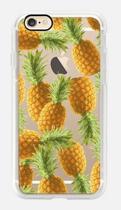 Casetify iPhone 7 Case and Other iPhone Covers - Pineapple pattern by Marta Olga Klara   #Casetify