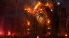The gates of hell wallpaper - Fantasy wallpapers - Fantasy Art Landscapes, Fantasy Landscape, Fantasy Drawings, Dark Fantasy, Gates Of Hell, Fantasy Places, Environment Concept Art, Environment Design, Imagines