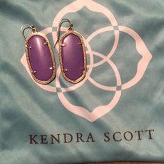 Kendra Scott Elle Earrings Violet Earrings purchased from Kendra Scott website. Dust bag included, but I don't have the earring backs. Kendra Scott Jewelry Earrings