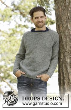 Keystone mens jumper with raglan in Karisma by DROPS Design. Free #knitting pattern