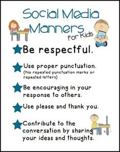 Children need to know how to have manners online just like in the real world so this pin is important for a classroom lesson. It is a kid friendly image that I could show my class, which is helpful.