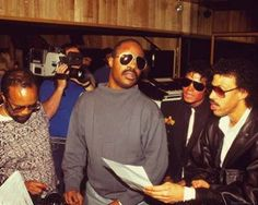 We Are The World. Quincy Jones, Stevie Wonder, Michael Jackson and Lionel Richie.