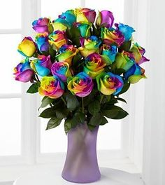FTD Flowers Rainbow Roses - Valentines Bouquet - 24 Stems - http://yourflowers.us/?p=3189