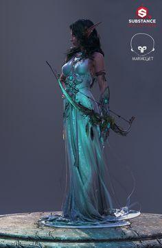 ArtStation - Tyrande - High Priestess of Elune, George Panfilov
