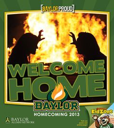 It's #Baylor Homecoming Week! Pick up one of these booklets around campus for all the details, kids pages, a poster and more! #BUHC13