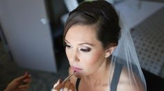 Wedding Hairstyle with Updo and Veil with SimpleMakeup with Eyelash Extensions and Pink Lipstick. Bridal Beauty by Vanity Belle in Orange County (Costa Mesa) and San Diego (La Jolla)