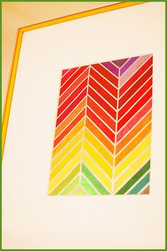 This would be great in a monochromatic color scheme on the chevron.