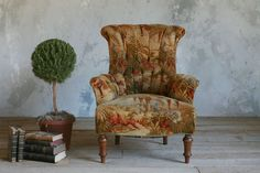 Gorgeous antique French Amelie Rose bergere in old tufted muslin upholstery with burlap seat and horsehair stuffing Beautiful old . Wingback Chair, Armchair, Painting Fur, Small Drawings, Drawing Room, French Antiques, French Country, Accent Chairs, Burlap