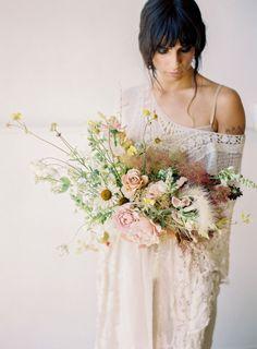 floral design class by san diego wedding florist, Plenty of Petals Blush Bouquet, Cascade Bouquet, Bridesmaid Bouquet, Blush Wedding Flowers, Floral Wedding, Wedding Bouquets, Tan Wedding, Civil Wedding, Summer Wedding