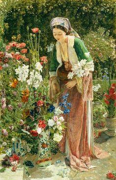 1865 John Frederick Lewis ~ In the Bey's Garden